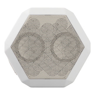 Abstract border white boombot rex bluetooth speaker