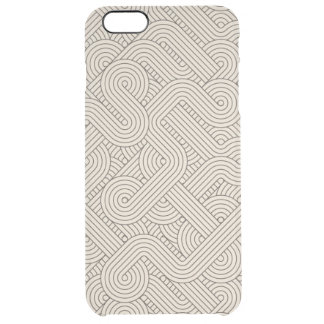 Abstract border clear iPhone 6 plus case
