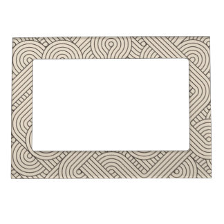 Abstract border magnetic photo frames