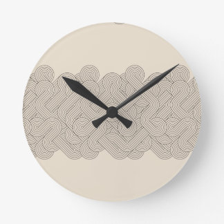 Abstract border round clock