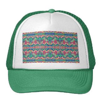 Abstract borders mesh hats
