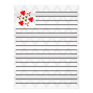 Abstract boring pattern 21.5 cm x 28 cm flyer