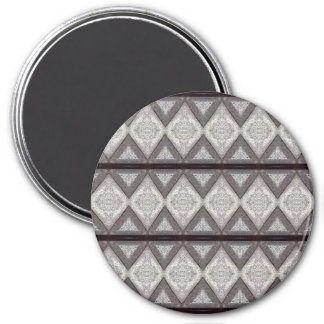 Abstract boring pattern 7.5 cm round magnet