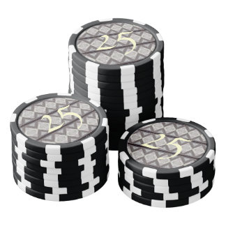 Abstract boring pattern poker chips