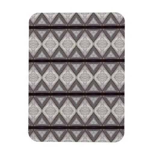 Abstract boring pattern flexible magnet