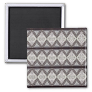 Abstract boring pattern square magnet