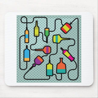 Abstract bottles mouse pad