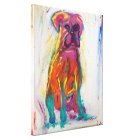 Abstract Boxer Painting Canvas Print