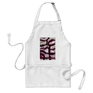 abstract branch print aprons