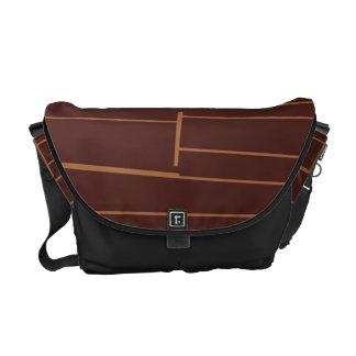 Abstract Brick Pattern Messenger Bag