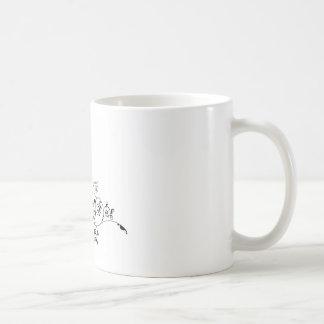 Abstract Bride and Groom Wedding Silhouette Coffee Mug