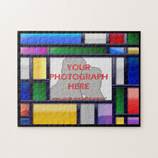 Abstract bright color Photo Frame Jigsaw Puzzle