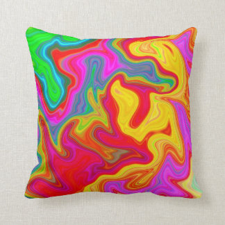 Abstract bright colourful pattern throw pillow