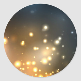 Abstract Bright Glow Classic Round Sticker