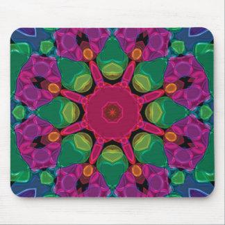 Abstract Bright Neon Kaleidoscope Mousepad