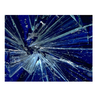 Abstract Broken glass Postcards