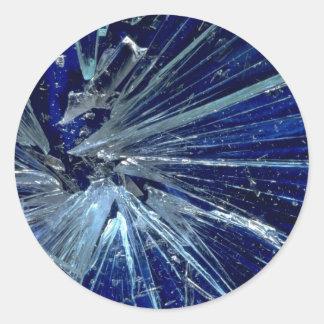 Abstract Broken glass Round Sticker