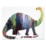 Abstract Brontosaurus Silhouette. Photo Print