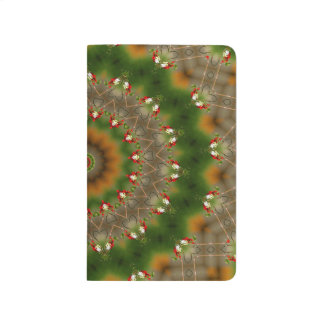 Abstract Brown And Green Kaleidoscope Pattern Journal