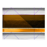 Abstract Brown and Yellow Postcard