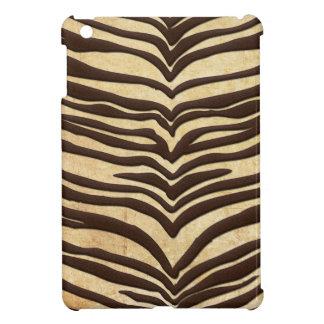 Abstract Brown Animal Print Zebra iPad Mini Case