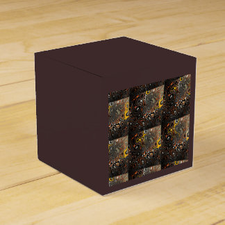 Abstract Brown Black and Yellow Orange Favor Box