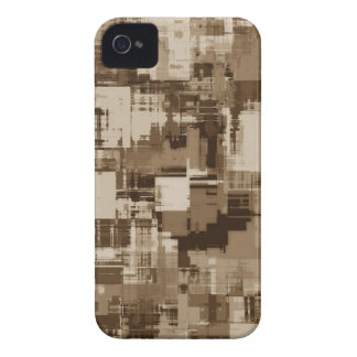 Abstract Brown Camo pattern iPhone 4 Case