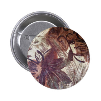 Abstract Brown Floral Design 1 6 Cm Round Badge