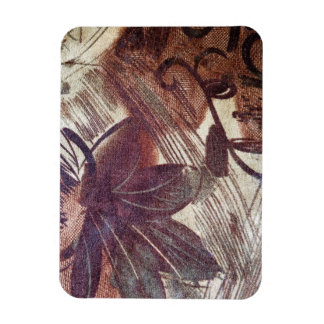 Abstract Brown Floral Design 1 Rectangular Photo Magnet