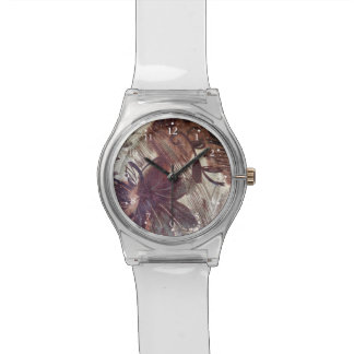 Abstract Brown Floral Design 1 Watch