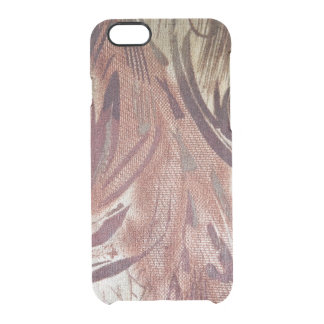 Abstract Brown Floral Design 2 Clear iPhone 6/6S Case