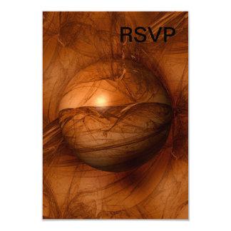 Abstract Brown Globe 9 Cm X 13 Cm Invitation Card