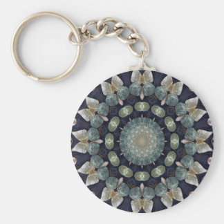 Abstract Brown Kaleidoscope Basic Round Button Key Ring