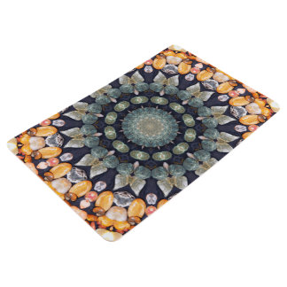 Abstract Brown Kaleidoscope Floor Mat