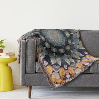 Abstract Brown Kaleidoscope Throw Blanket