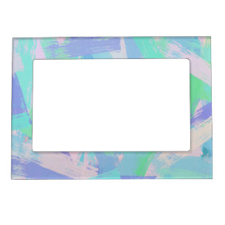 abstract brush strokes texture. magnetic frame