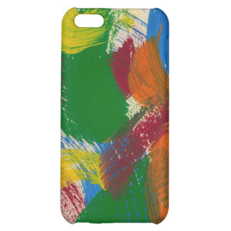 Abstract brushstroke painting on  iPhone 5C cases