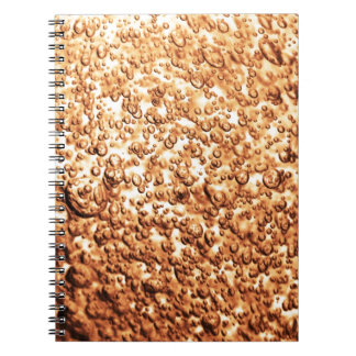 Abstract bubble background design notebook