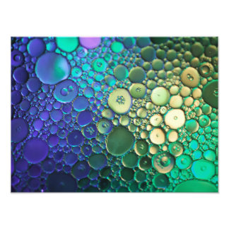Abstract bubble photography photo print