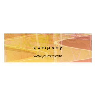 Abstract Building in Warm Tones Pack Of Skinny Business Cards