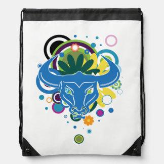 Abstract Bull Drawstring Backpack