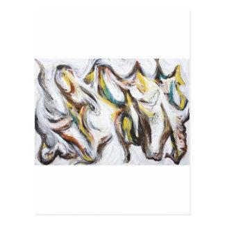 Abstract Bullfight (abstract animal painting) Postcard