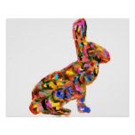 Abstract Bunny Poster