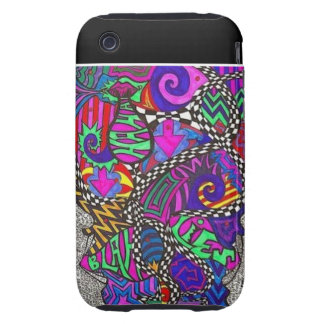 Abstract Burst Tough iPhone 3 Cover