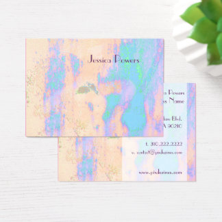 Abstract Businesscards template, turquoise skin Business Card