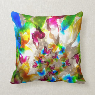 Abstract  Butterflies American MoJo Cushion