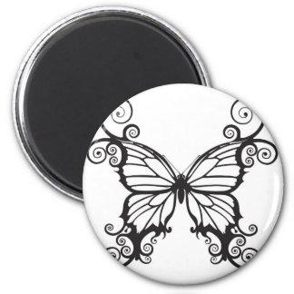 Abstract butterflies fridge magnets