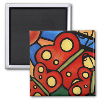 Abstract Butterflies Magnet