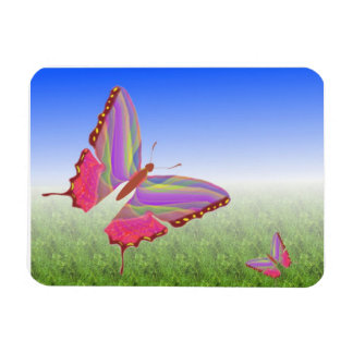 Abstract Butterflies Premium Magnet