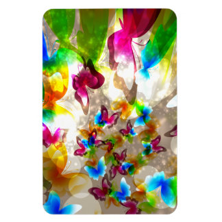 Abstract Butterflies Vinyl Magnet